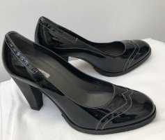 Parlanti Mary Jane Pumps black leather