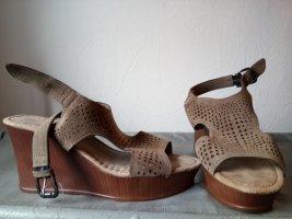 Esmara Sandalias de tiras ocre-marrón
