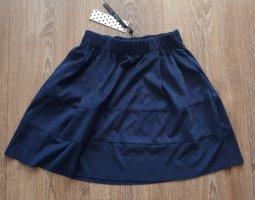 Noisy May Circle Skirt blue polyester
