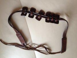 Joop! Cinturón de cuero marrón oscuro
