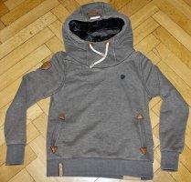Naketano Hoodie Size L Large taupe grau braun hooded Sweatshirt NEU Hoody