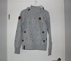 Naketano Capuchon sweater lichtgrijs Katoen