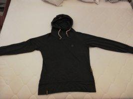 Naketano Pull à capuche gris foncé-gris anthracite coton