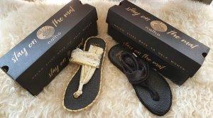 Nalho Toe-Post sandals multicolored mixture fibre