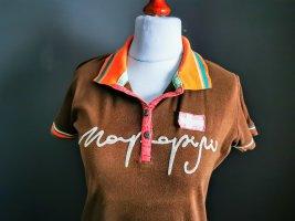 Napapijri Koszulka polo brązowy-pomarańczowy