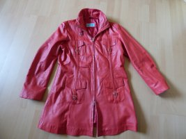Giacca lunga rosso Pelle