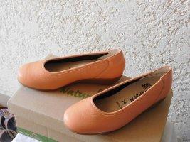 Natural Feet Składane baleriny pomarańczowy Skóra
