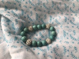Bracelet silver-colored-light blue