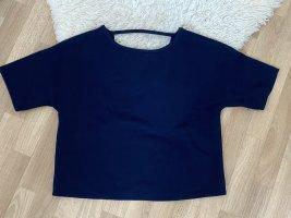 Mango Short Sleeved Blouse dark blue-blue