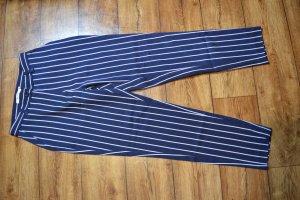 Nakd Pantalón tipo suéter azul oscuro-blanco