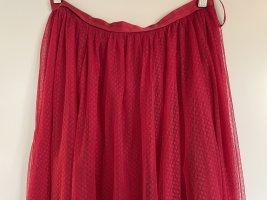 needle & thread Tiulowa spódnica ceglasty Poliester