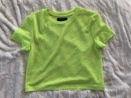 Bershka T-shirt court jaune fluo