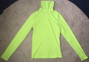 Neon Green Grün Pullover Rollkragenpullover langarm