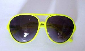 Lunettes aviateur jaune-jaune primevère