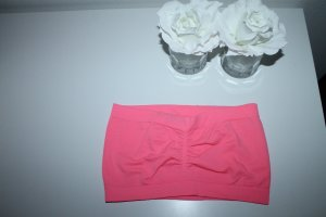 Bandeau top neonroos-roze Polyester