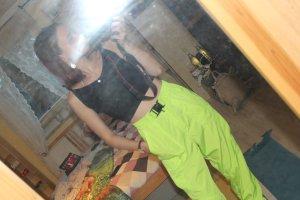 Zara Pantalone a vita alta verde neon
