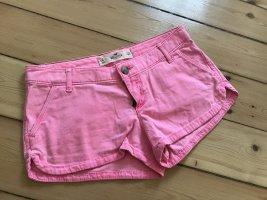 Neonpinke Hollister Hose, kurze Hose, Hot Pants, Sommer Shorts