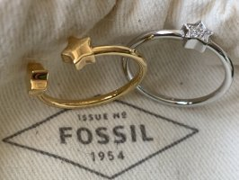Fossil Silver Ring silver-colored-gold-colored