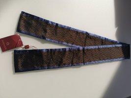 Aigner Bufanda de seda color bronce-azul oscuro