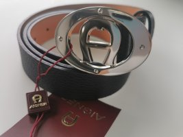 Aigner Leather Belt black