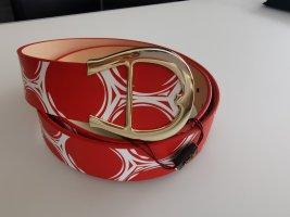 Aigner Leather Belt red