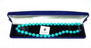 Art Pearl Necklace turquoise