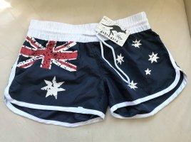 NEU ! Australien Shorts Blau weiß rot Flagge
