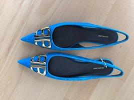 Balenciaga Ballerinas with Toecap light blue-neon blue