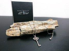 Neu Bijou Brigitte 925 Silber Kette Halskette mit Schlüssel Anhänger Zirkonia Steine Neupreis 39,99€