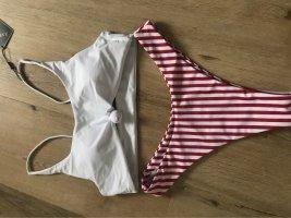 Zaful Bikini wit-rood