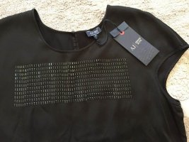 Armani Jeans Blouse à manches courtes noir viscose