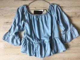 Guess Carmen blouse azuur Lyocell