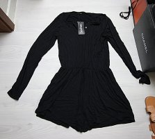 Boohoo Kurzer Jumpsuit black