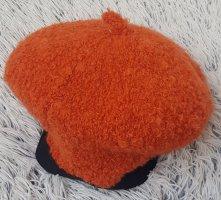 Berretto basco arancione scuro