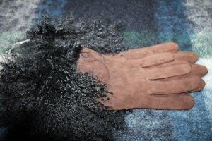 Roeckl Guanto in pelle marrone-nero Pelle