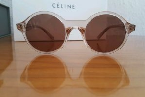 Celine Occhiale da sole rotondo rosa pallido-marrone Acetato
