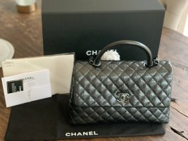 NEU - Chanel Flapbag / Chanel Coco Handle - schwarz / anthrazit