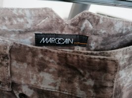 Marc Cain Pantalon en velours côtelé marron clair-argenté tissu mixte