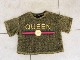 Sheinside Camicia cropped oro