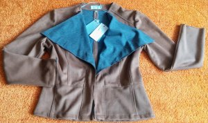 Just White Giacca softshell cognac-grigio Poliestere