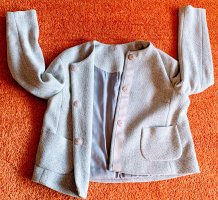 Blazer in lana grigio chiaro-bianco Lana