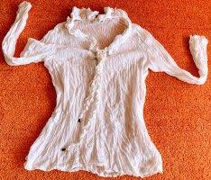 Apanage Bluzka marszczona biały Bawełna