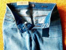 Jeans elasticizzati blu neon Cotone