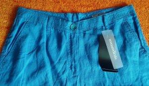 Steilmann Pantalon 3/4 bleu fluo coton
