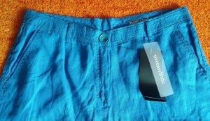 Steilmann Pantalone a 3/4 blu neon Lino