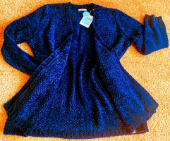 Basefield Veste en tricot bleu foncé polyester