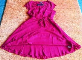 Esprit Robe mi-longue rose coton