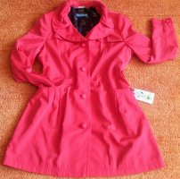 Himmelblau Trench Coat black-red polyester