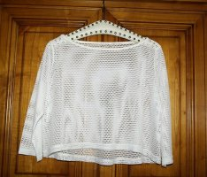 NoName Top en maille crochet blanc polyester