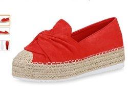 Scarpe Vita Espadrille sandalen beige-rood